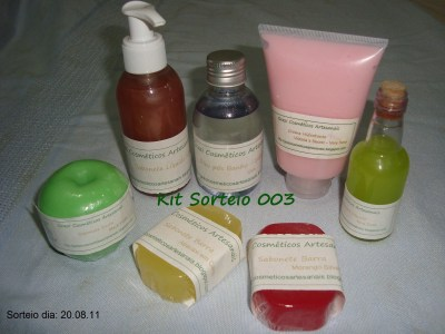 sorteio 003 grazi cosmeticos artesanais
